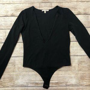 Express Long sleeve Plunging Bodysuit